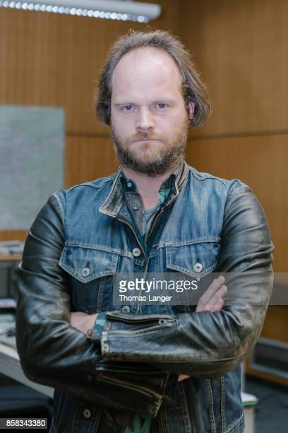 Andreas Leopold Schadt poses during the 'Tatort 'Ich toete niemand' on set photocall at Quellegebaeude on October 6 2017 in Nuremberg Germany