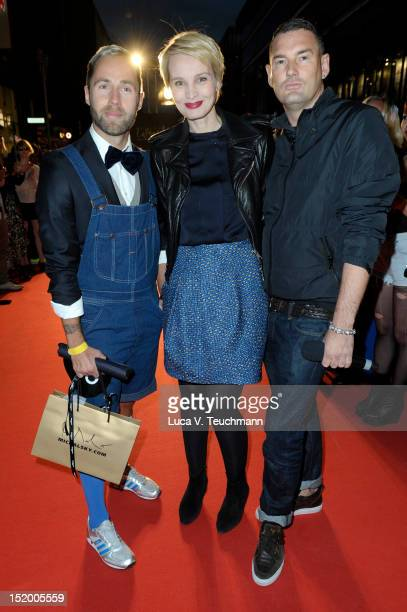 Andreas Lueck Susann Atwell Michael Michalsky attends the 'StreetstyleShow 'La Mode c'est vous' Galeries Lafayette ' Du bist die Mode at Galeries...