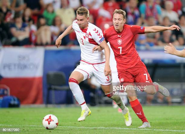 Andreas Maxs Lukas Julis during the UEFA European Under21 match between Czech Republic and Denmark at Arena Tychy on June 24 2017 in Tychy Poland