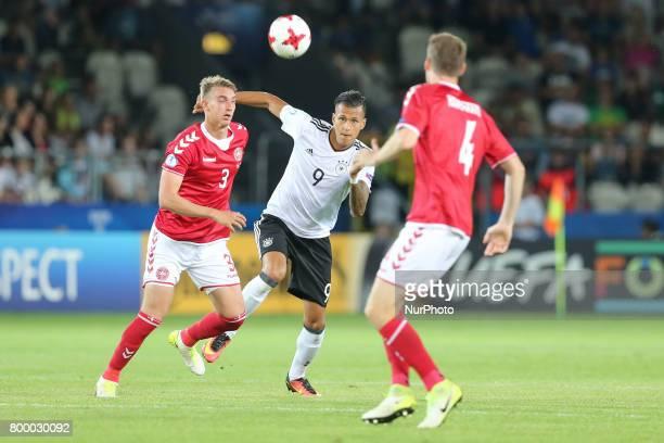 Andreas Maxso Davie Selke Patrick Banggaard during the UEFA European Under21 Championship Group C match between Germany and Denmark at Krakow Stadium...
