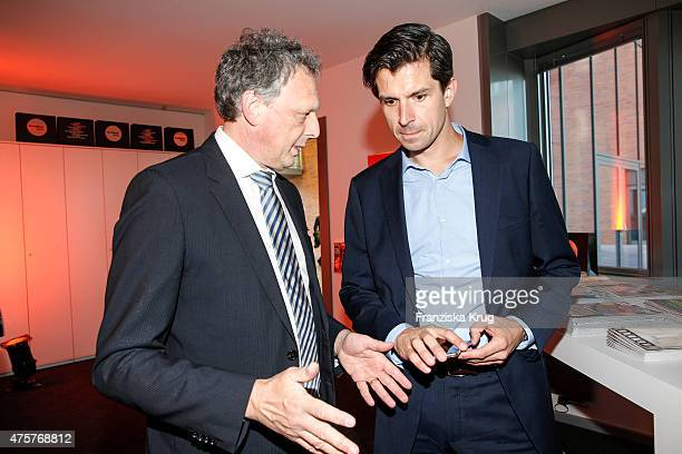 Andreas Mayer and Jonas Grashey attend the BurdaNews Night on June 03 2015 in Hamburg Germany