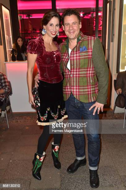 Andreas Meister and Lola Paltinger during the 'Die Kulisse Restaurant Reopening Party' on October 5 2017 in Munich Germany