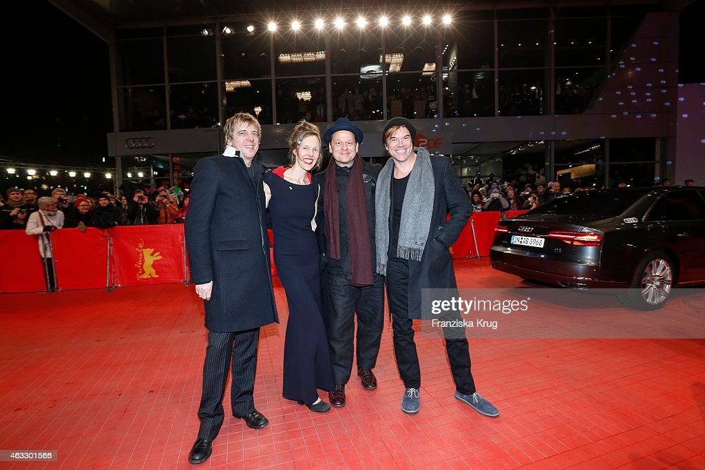 Andreas Meurer Donata Wenders Andreas von Holst and Campino attend 'The American Friend' premiere AUDI arrivals during The 65th Berlinale...