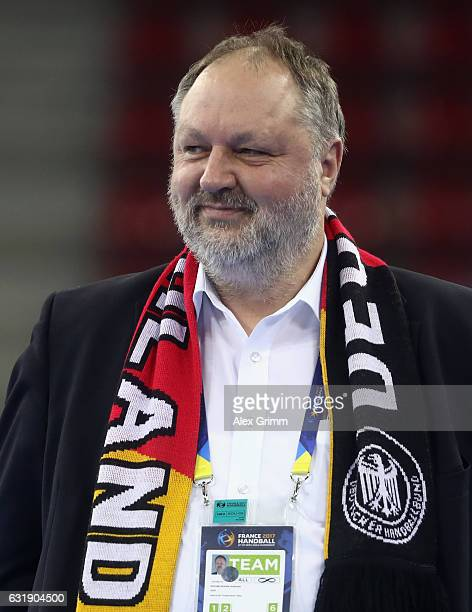 Andreas Michelmann President of the German Handball Federation DHB looks on prior to the 25th IHF Men's World Championship 2017 match between Germany...