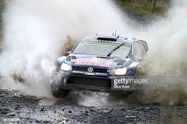 Andreas Mikkelsen and Ola Floene of Norway pilot the Volkswagen Motosport Polo R WRC during the Sweet Lamb stage of the FIA World Rally Championship...