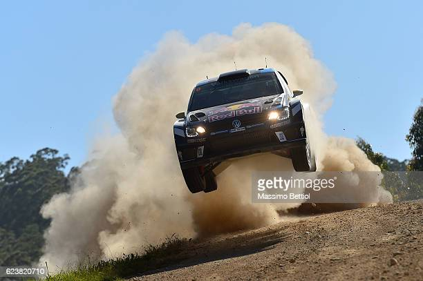 Andreas Mikkelsen of Norway and Anders Jaeger of Norway compete in their Volkswagen Motorport II Volkswagen Polo R WRC durig the Shakedown of the WRC...