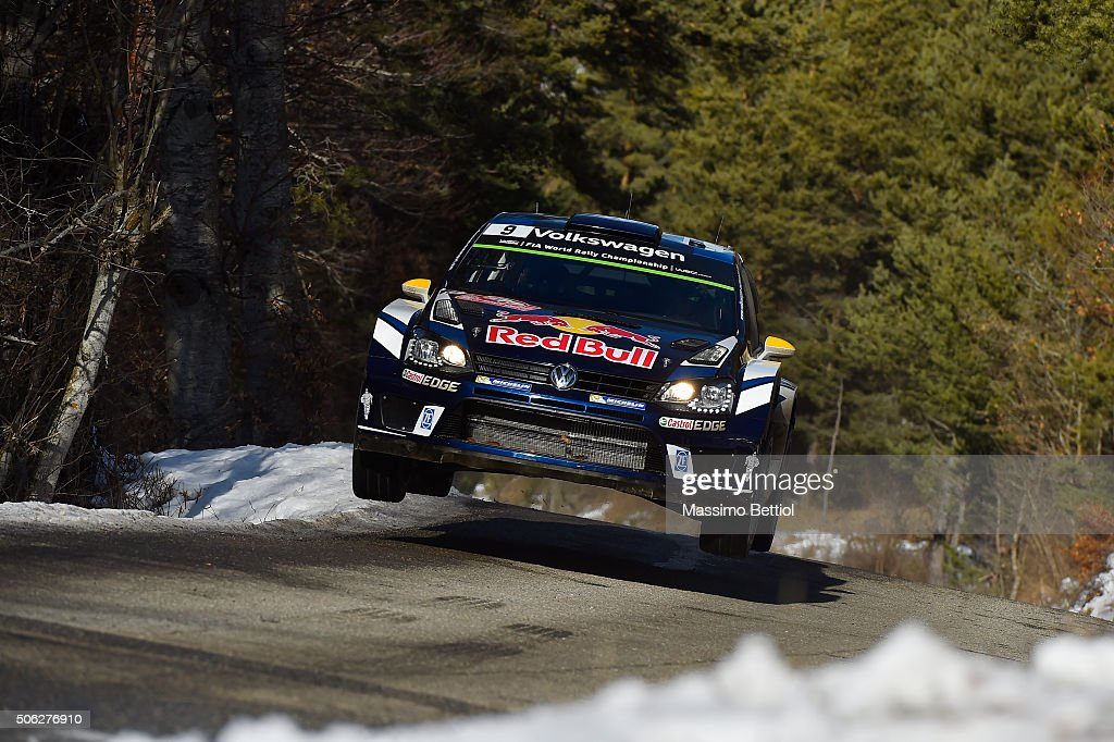<a gi-track='captionPersonalityLinkClicked' href=/galleries/search?phrase=Andreas+Mikkelsen&family=editorial&specificpeople=4055844 ng-click='$event.stopPropagation()'>Andreas Mikkelsen</a> of Norway and Anders Jaeger Synnevag of Norway compete in their Volkswagen Motorsport II Volkswagen Polo R WRC during Day Two of the WRC Monte Carlo on January 22, 2016 in Gap, France.