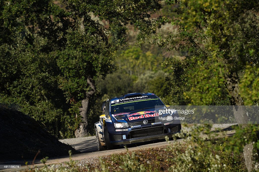 <a gi-track='captionPersonalityLinkClicked' href=/galleries/search?phrase=Andreas+Mikkelsen&family=editorial&specificpeople=4055844 ng-click='$event.stopPropagation()'>Andreas Mikkelsen</a> of Norway and Ola Floene of Norway compete in their Volkswagen Motorsport II Volkswagen Polo R WRC during Day Two of the WRC France on October 3, 2015 in Ajaccio, France.