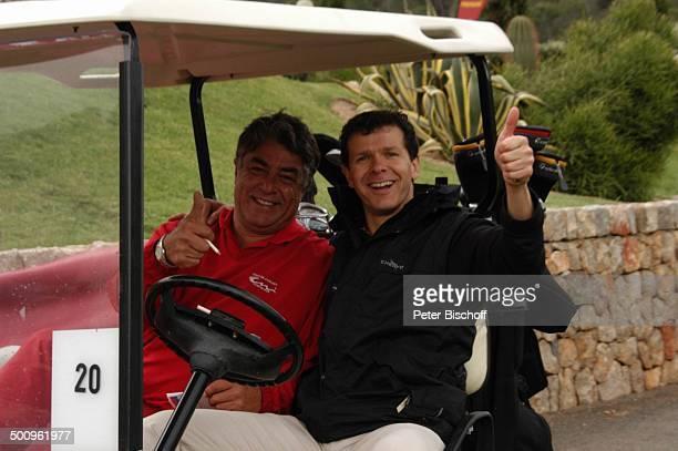 Andreas Möller Thomas Linde GolfTurnier 'Premiere Golf Trophy' Port d Andratx/Mallorca/Spanien Golfplatz Sport Golfwagen Schläger Golf Grün Rasen...