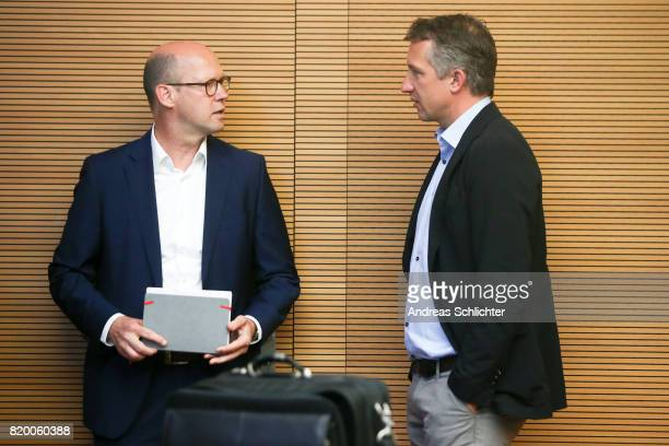 Andreas Nagel Frank Baumann at DFB Headquarter on July 19 2017 in Frankfurt am Main Germany