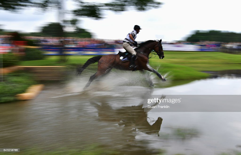 Andreas Ostholt of Germany riding Pennsylvania 28 jumps during the cross country section of the Messmer Trophy Luhmuhlen on June 18 2016 in Luhmuhlen...