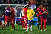 Andreas Pereira of Brazil looks on after losing the FIFA U20 World Cup Final match between Brazil and Serbia at North Harbour Stadium on June 20 2015...