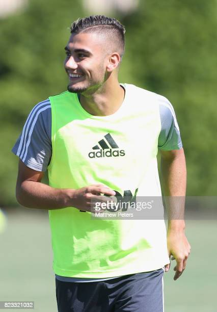 Andreas Pereira of Manchester United in action during a first team training session as part of their preseason tour of the USA on July 25 2017 in...