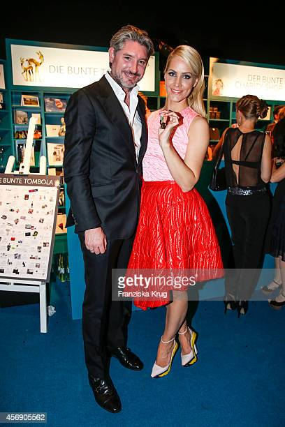 Andreas Pfaff and his wife Judith Rakers attend the Tribute To Bambi 2014 party on September 25 2014 in Berlin Germany