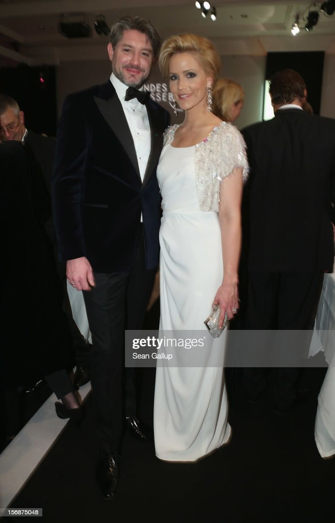 Andreas Pfaff and Judith Rakers attend the 2012 Bundespresseball at the Intercontinental Hotel on November 23 2012 in Berlin Germany