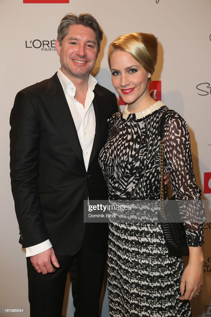 Andreas Pfaff and <a gi-track='captionPersonalityLinkClicked' href=/galleries/search?phrase=Judith+Rakers&family=editorial&specificpeople=5629240 ng-click='$event.stopPropagation()'>Judith Rakers</a> attends the Gala Star Night during the 63rd Berlinale International Film Festival at the Stue Hotel on February 9, 2013 in Berlin, Germany.