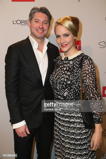 Andreas Pfaff and Judith Rakers attends the Gala Star Night during the 63rd Berlinale International Film Festival at the Stue Hotel on February 9...