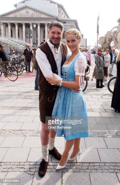 Andreas Pfaff and Judith Rakers sighting on September 21 2013 in Munich Germany