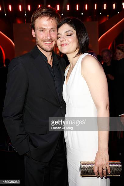 Andreas Pietschmann and Jasmin Tabatabai attend the Lola German Film Award 2014 at Tempodrom on May 09 2014 in Berlin Germany