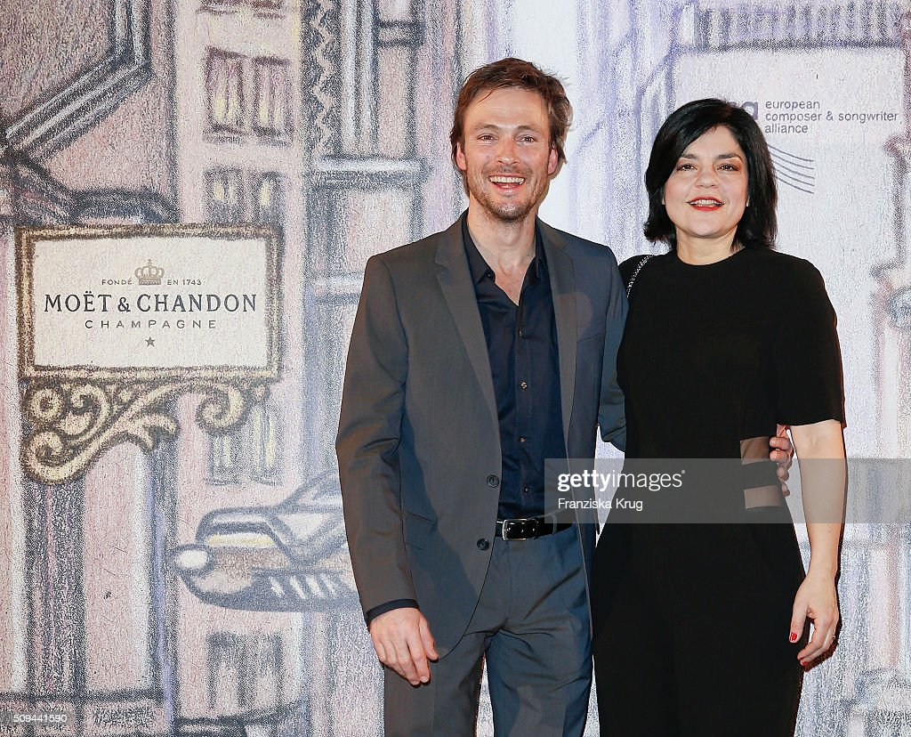 Andreas Pietschmann and <a gi-track='captionPersonalityLinkClicked' href=/galleries/search?phrase=Jasmin+Tabatabai&family=editorial&specificpeople=243154 ng-click='$event.stopPropagation()'>Jasmin Tabatabai</a> attend the Moet & Chandon Grand Scores 2016 at Hotel De Rome on February 6, 2016 in Berlin, Germany.