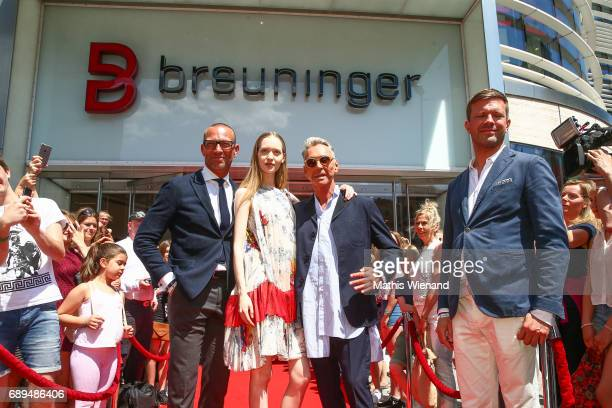 Andreas Rebbelmund guest Wolfgang Joop and Christian Witt attend as Wolfgang Joop presents his new project at Breuninger on May 26 2017 in...