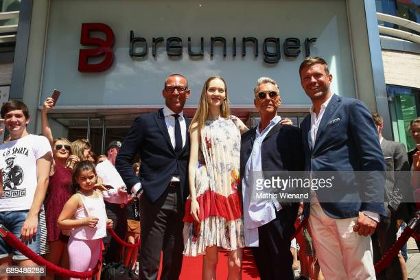 Andreas Rebbelmund model and Wolfgang Joop attend as he presents his new project at Breuninger on May 26 2017 in Duesseldorf Germany
