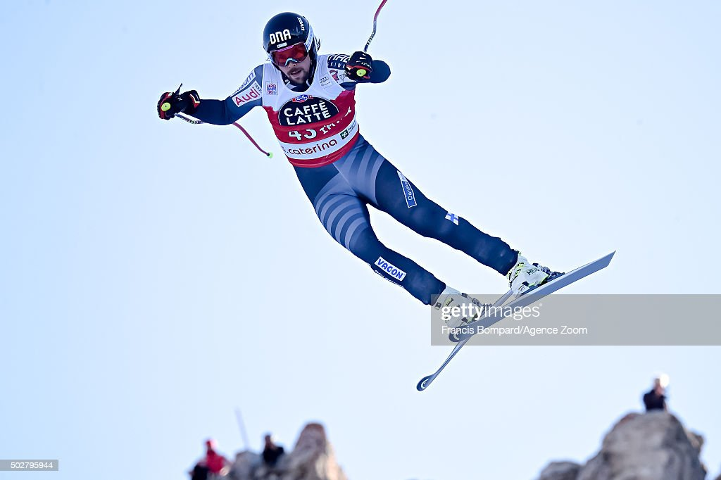<a gi-track='captionPersonalityLinkClicked' href=/galleries/search?phrase=Andreas+Romar&family=editorial&specificpeople=6734606 ng-click='$event.stopPropagation()'>Andreas Romar</a> of Finland competes during the Audi FIS Alpine Ski World Cup Men's Downhill on December 29, 2015 in Santa Caterina Valfurva, Italy.