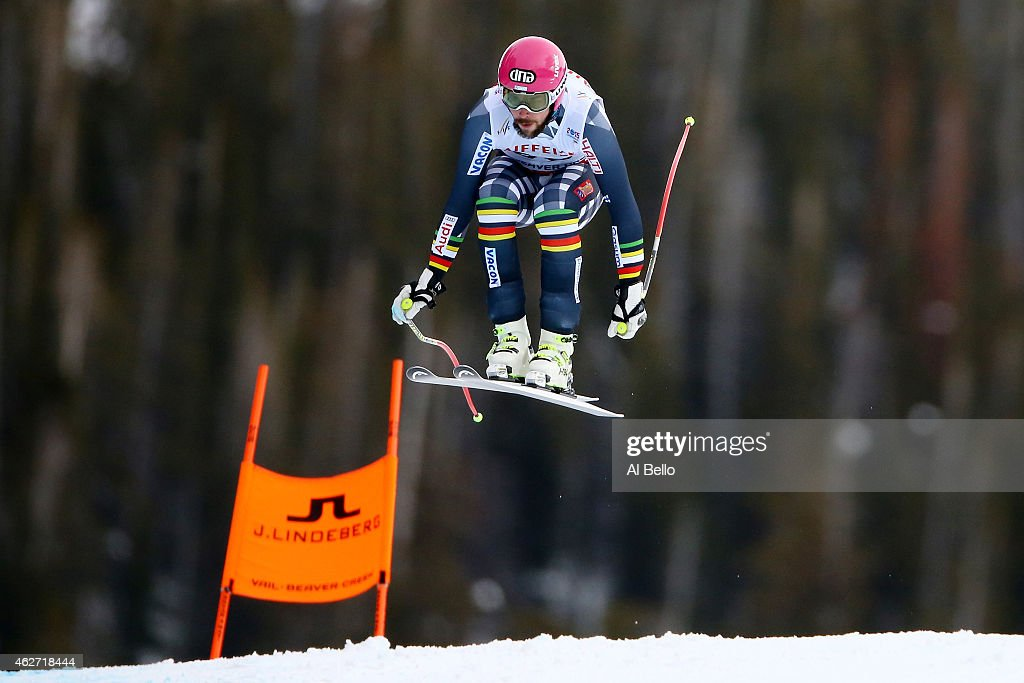 <a gi-track='captionPersonalityLinkClicked' href=/galleries/search?phrase=Andreas+Romar&family=editorial&specificpeople=6734606 ng-click='$event.stopPropagation()'>Andreas Romar</a> of Finland jumps during the Men's Downhill training on the Birds of Prey racecourse on Day 2 of the 2015 FIS Alpine World Ski Championships on February 3, 2015 in Beaver Creek, Colorado.