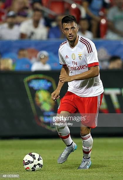 Andreas Samaris of Benfica in action during the 2015 International Champions Cup match against Paris SaintGermain at BMO Field on July 18 2015 in...