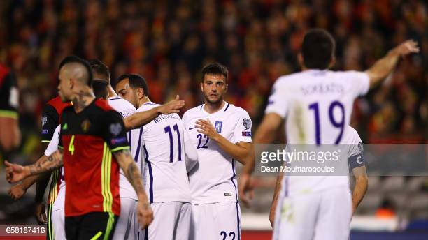 Andreas Samaris of Greece looks on during the FIFA 2018 World Cup Group H Qualifier match between Belgium and Greece at Stade Roi Baudouis on March...