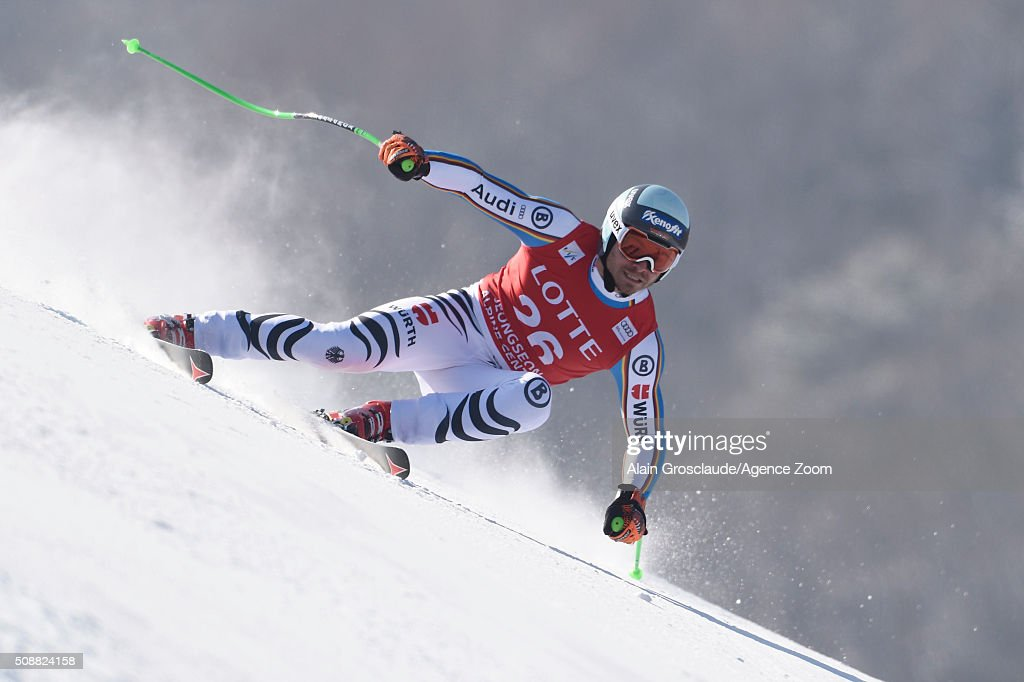 <a gi-track='captionPersonalityLinkClicked' href=/galleries/search?phrase=Andreas+Sander&family=editorial&specificpeople=7295695 ng-click='$event.stopPropagation()'>Andreas Sander</a> of Germany competes during the Audi FIS Alpine Ski World Cup Men's Super G on January 07, 2016 in Jeongseon, South Korea.