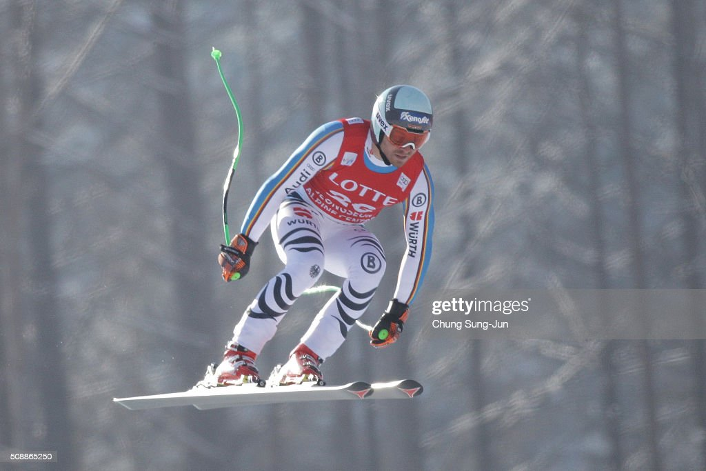 Andreas Sander of Germany competes in the Men's Super G Finals during the 2016 Audi FIS Ski World Cup at the Jeongseon Alpine Centre on February 7, 2016 in Jeongseon-gun, South Korea.