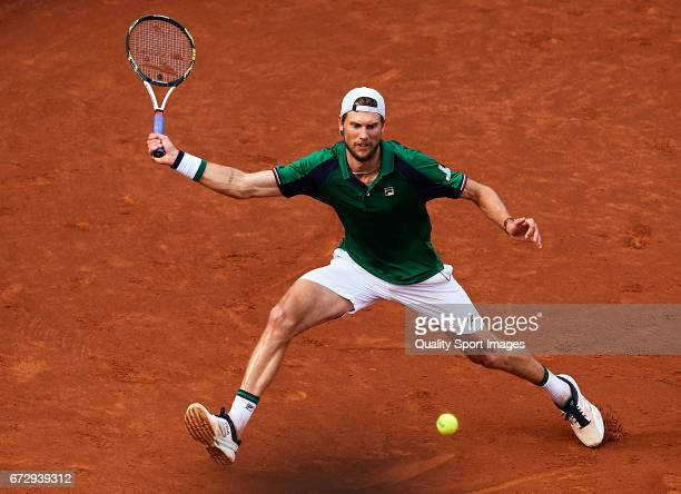 Andreas Seppi of Italy in action at his match against Pablo Carreno Busta of Spain during the Day2 of the Barcelona Open Banc Sabadell at the Real...
