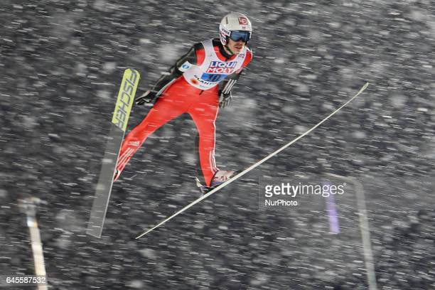 Andreas Stjernen competes in the Mixed Team HS100 Normal Hill Ski Jumping during the FIS Nordic World Ski Championships on February 26 2017 in Lahti...