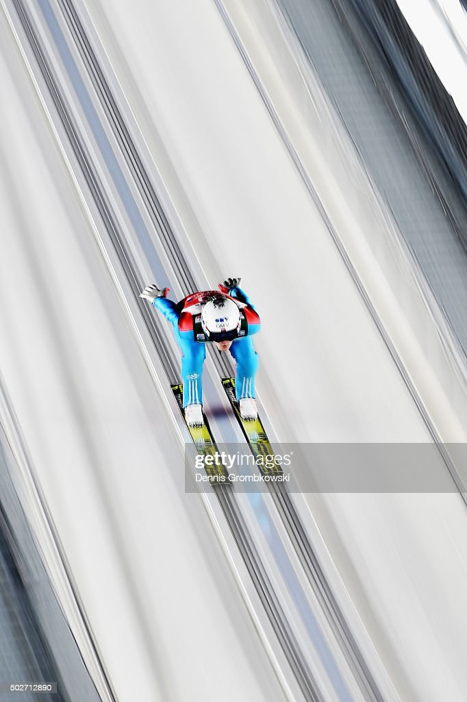 <a gi-track='captionPersonalityLinkClicked' href=/galleries/search?phrase=Andreas+Stjernen&family=editorial&specificpeople=6693989 ng-click='$event.stopPropagation()'>Andreas Stjernen</a> of Norway accelerates down the jumping hill during his training jump on Day 1 of the 64th Four Hills Tournament ski jumping event on December 28, 2015 in Oberstdorf, Germany.