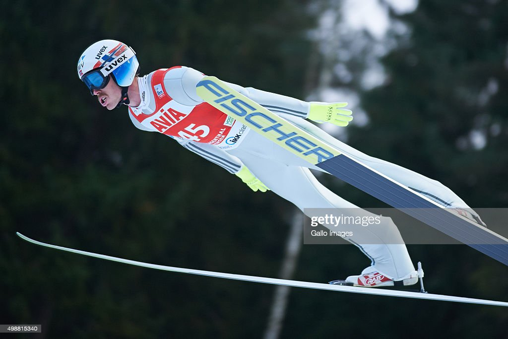 <a gi-track='captionPersonalityLinkClicked' href=/galleries/search?phrase=Andreas+Stjernen&family=editorial&specificpeople=6693989 ng-click='$event.stopPropagation()'>Andreas Stjernen</a> of Norway competes in the 1st round of FIS Ski Jumping World Cup mens competition on November 22, 2015 in Klingenthal, Germany.