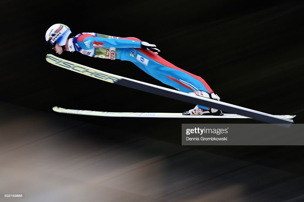 <a gi-track='captionPersonalityLinkClicked' href=/galleries/search?phrase=Andreas+Stjernen&family=editorial&specificpeople=6693989 ng-click='$event.stopPropagation()'>Andreas Stjernen</a> of Norway soars through the air during his qualification jump on day 1 of the 64th Four Hills Tournament ski jumping event on January 2, 2016 in Innsbruck, Austria.