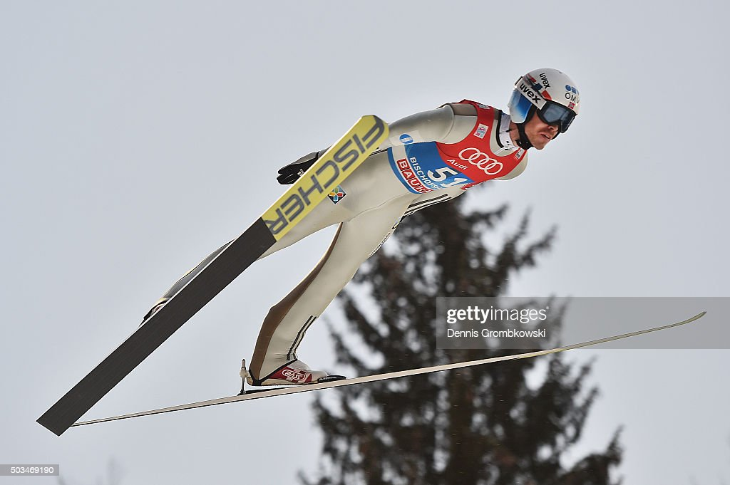 <a gi-track='captionPersonalityLinkClicked' href=/galleries/search?phrase=Andreas+Stjernen&family=editorial&specificpeople=6693989 ng-click='$event.stopPropagation()'>Andreas Stjernen</a> of Norway soars through the air during his trial jump on Day 1 of the Bischofshofen 64th Four Hills Tournament ski jumping event on January 5, 2016 in Bischofshofen, Austria.