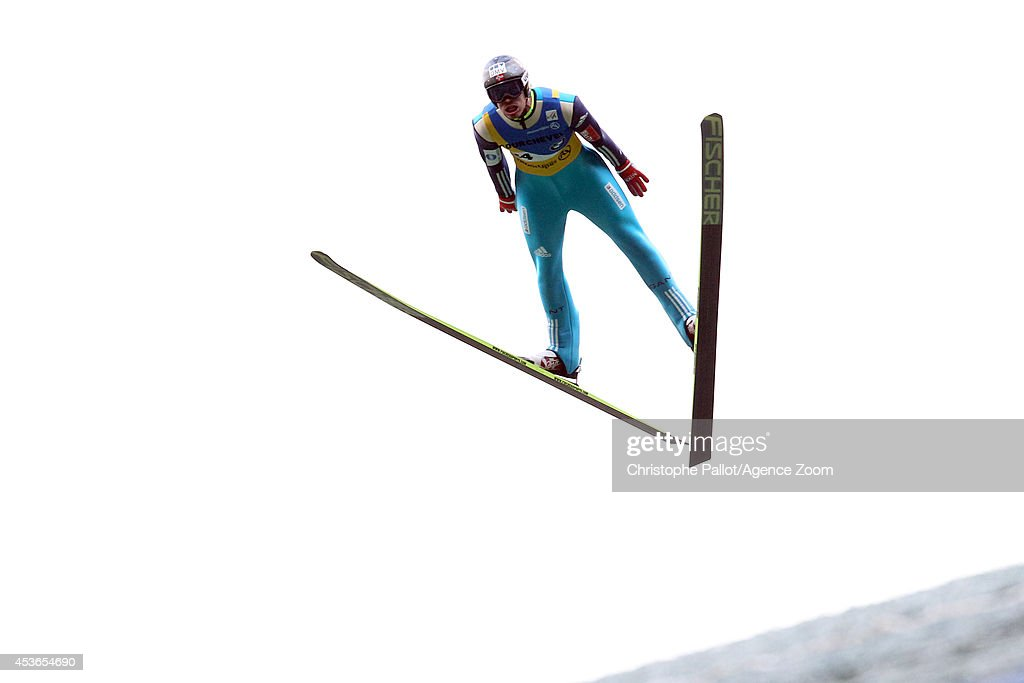 <a gi-track='captionPersonalityLinkClicked' href=/galleries/search?phrase=Andreas+Stjernen&family=editorial&specificpeople=6693989 ng-click='$event.stopPropagation()'>Andreas Stjernen</a> of Norway takes 1st place during the FIS Ski Jumping Grand Prix Men's HS 132 on August 15, 2014 in Courchevel, France.