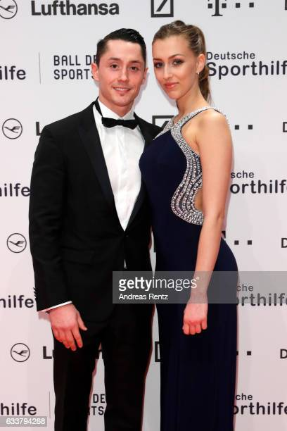 Andreas Toba and Daniela Potapova attend the German Sports Gala 'Ball des Sports 2017' on February 4 2017 in Wiesbaden Germany