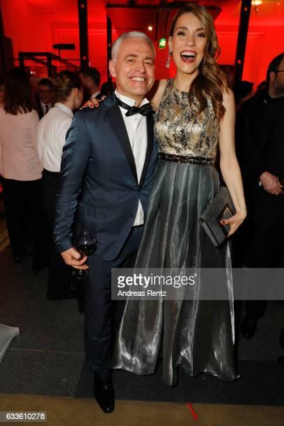 Andreas von Thien and Annett Moeller attend the German Television Award at Rheinterrasse on February 2 2017 in Duesseldorf Germany