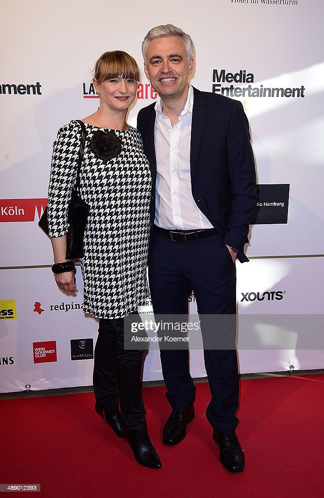 Andreas von Thien (r) and his wife Alexandra von Thien attend the Media Entertainment Night at Hotel im Wasserturm on May 9, 2014 in Cologne, Germany.