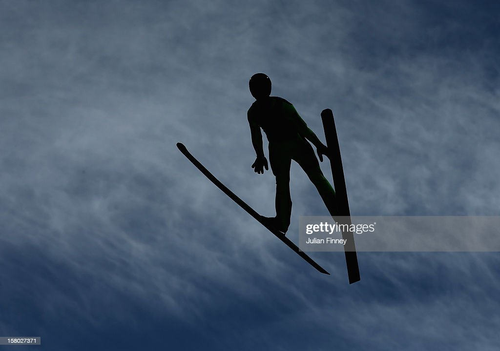 Andreas Wank of Germany competes in a Ski Jump during the FIS Ski Jumping World Cup at the RusSki Gorki venue on December 9, 2012 in Sochi, Russia.