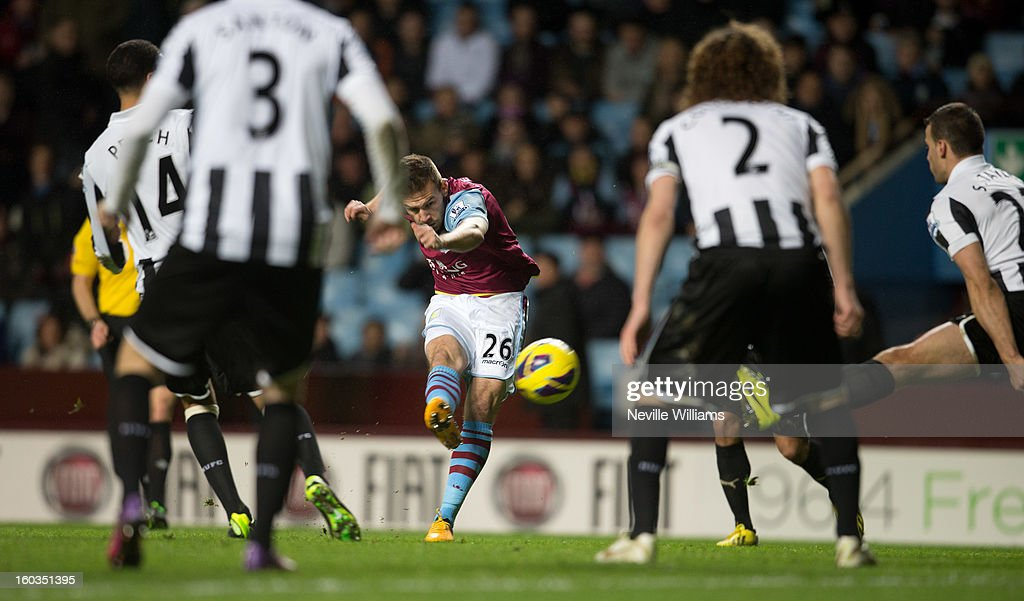 <a gi-track='captionPersonalityLinkClicked' href=/galleries/search?phrase=Andreas+Weimann&family=editorial&specificpeople=5891558 ng-click='$event.stopPropagation()'>Andreas Weimann</a> of Aston Villa during the Barclays Premier League match between Aston Villa and Newcastle United at Villa Park on January 29, 2013 in Birmingham, England.