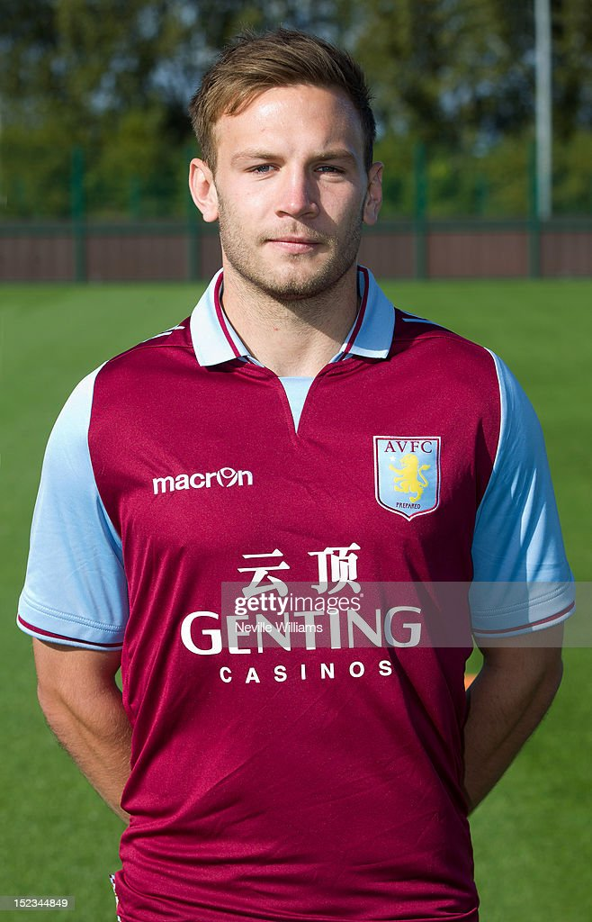 <a gi-track='captionPersonalityLinkClicked' href=/galleries/search?phrase=Andreas+Weimann&family=editorial&specificpeople=5891558 ng-click='$event.stopPropagation()'>Andreas Weimann</a> of Aston Villa poses during the club's 2012/13 photo call at the club's training ground at Bodymoor Heath on September 18, 2012 in Birmingham, England.