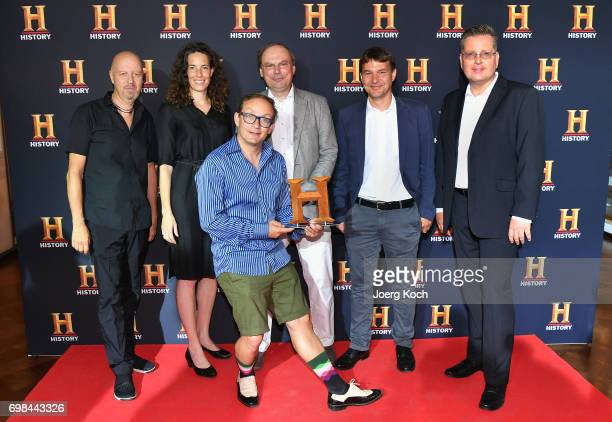 Andreas Weinek Managing Director History and AE Networks Germany juror Maya Reichert host and juror Wigald Boning juror Niko Lamprecht juror Jens...