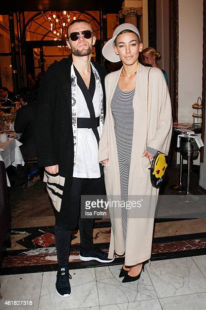 Andreas Weizel and Alina Sueggeler attend the GRAZIA POP UP Breakfast on January 20 2015 in Berlin Germany