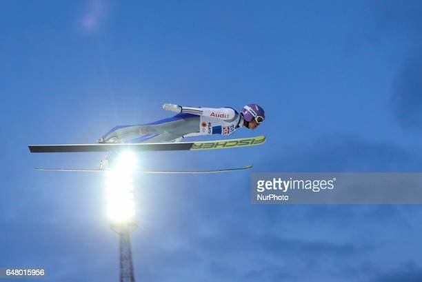 Andreas Wellinger during the men's team ski jumping HS130 during the FIS Nordic World Ski Championships on March 4 2017 in Lahti Finland