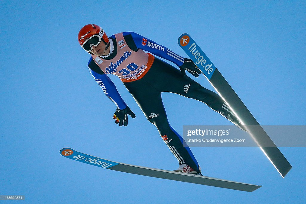 <a gi-track='captionPersonalityLinkClicked' href=/galleries/search?phrase=Andreas+Wellinger&family=editorial&specificpeople=8795492 ng-click='$event.stopPropagation()'>Andreas Wellinger</a> of Germany competes during the FIS Ski-Flying World Championships HS205 on March 14, 2014 in Harrachov, Czech Republic.