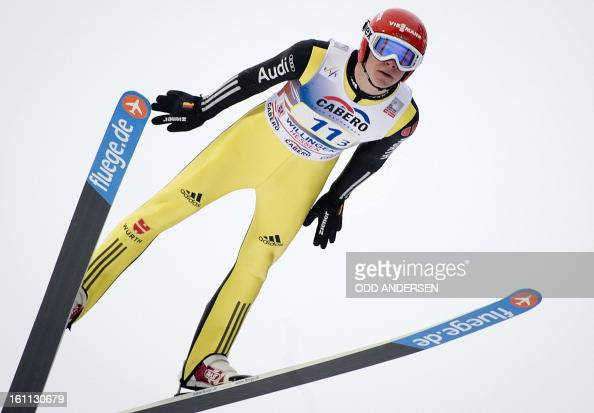 Andreas Wellinger of Germany jumps during the FIS Ski Jumping World Cup team competition on the Muehlenkopfschanze hill in Willingen western Germany...